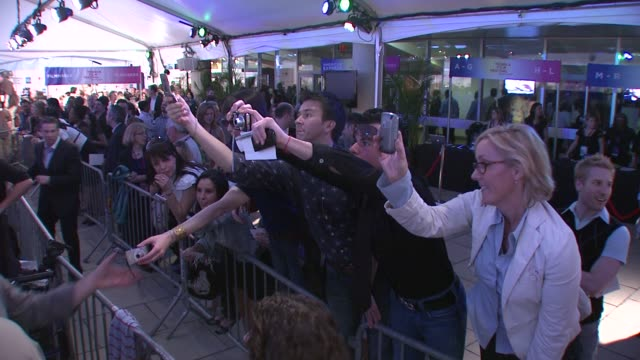 fans at the 7th annual tribeca film festival i am because we are premiere at borough of manhattan community college / tribeca performing arts in new... - community college stock videos & royalty-free footage