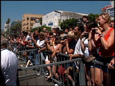 fans at the dedication of james brolin's hollywood walk of fame star at 7018 hollywood blvd in los angeles, california on august 27, 1998. - james brolin stock videos & royalty-free footage