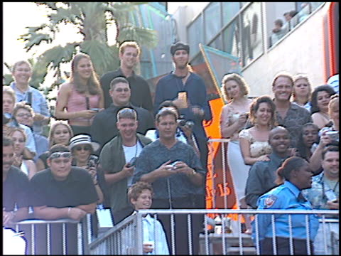 fans at the espy awards at the kodak theatre in hollywood, california on july 10, 2002. - espy awards stock videos & royalty-free footage