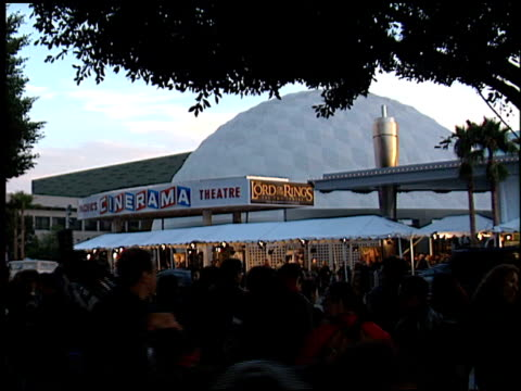 fans at the premiere of 'the lord of the rings the two towers' at the cinerama dome at arclight cinemas in hollywood california on december 15 2002 - arclight cinemas hollywood stock videos and b-roll footage
