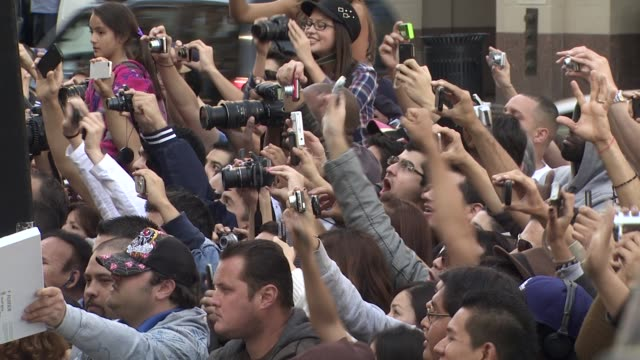 fans at the shakira honored with star on the hollywood walk of fame at hollywood ca - shakira stock videos and b-roll footage