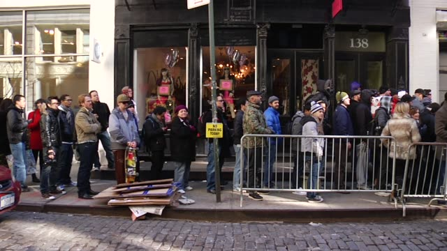 fans at the snoop dogg & stormtroopers launch adidas originals x star wars collection at new york ny. - adidas stock videos & royalty-free footage