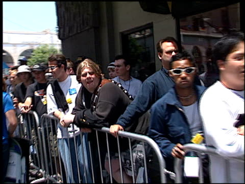 Fans at the 'Star Wars The Phantom Menace' tickets on sale at Grauman's Chinese Theatre in Hollywood California on May 12 1999