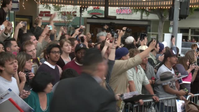 atmosphere fans at the transcendence los angeles premiere at regency village theatre on april 10 2014 in westwood california - regency style stock videos and b-roll footage