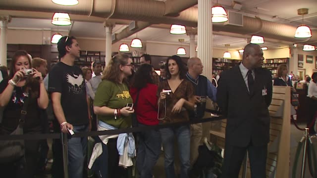 Fans at the U2 Signs Copies of Their New Book 'U2 by U2' at Barnes Noble Union Square in New York New York on September 26 2006