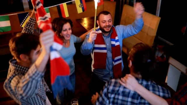 Fans vieren in pub