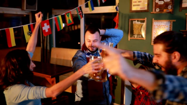 Fans vieren van de overwinning