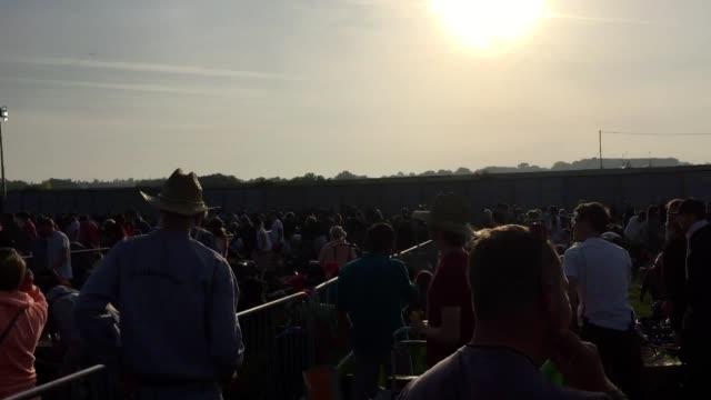 Fans chant Jeremy Corbyn's name as the gates open for Glastonbury Festival 2017