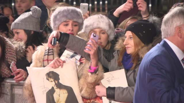 ATMOSPHERE Fans crying at 'Mortdecai' UK Premiere on January 19 2015 in London England