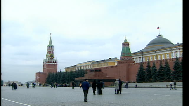 Fans face struggle to get visas for Champions League final in Moscow TX Moscow EXT Russian flag flying in Red Square General views of Red Square