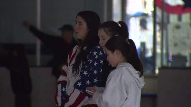Fans gathered at Centennial Ice Arena to watch Jason Brown perform his figure skating long program at the Sochi Olympics on February 14 2014 in...
