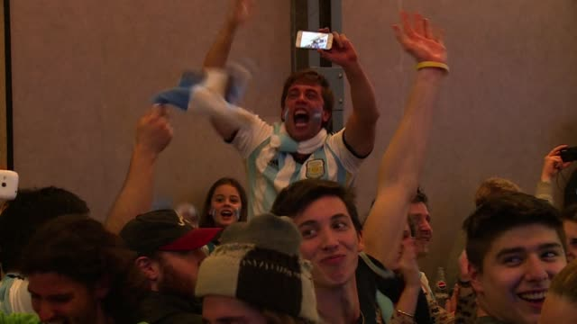 Fans in Buenos Aires celebrate as Gonzalo Higuains goal in a 10 win over Belgium propels them into their first World Cup semi finals since 1990