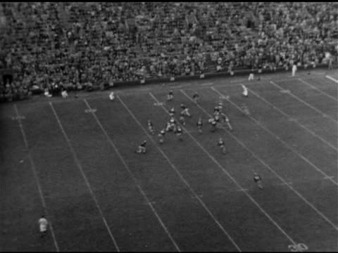 fans in football open bleacher seat stadium ha td ws kick off ws fans in stands ha td game play crimson player running tackled at 10 yard line team... - 1951 stock videos & royalty-free footage
