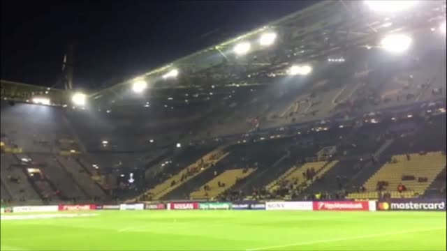 fans leave borussia dortmund's stadium after their champions league match against monaco is postponed after explosions hit dortmund's team bus the... - borussia dortmund stock videos and b-roll footage
