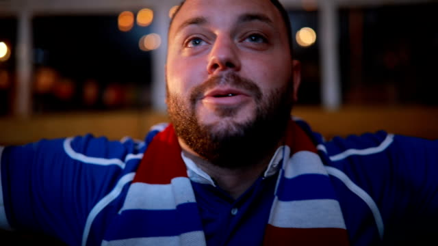 fans look happy - scarf stock videos & royalty-free footage