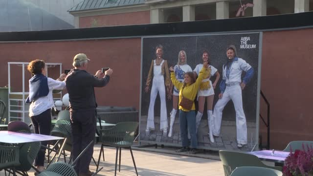 fans of abba in stockholm outside a museum dedicated to the group say they are thrilled after the swedish superstars on thursday announced a musical... - report produced segment stock videos & royalty-free footage