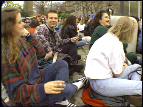 / Fans of grunge rock singer Kurt Cobain gather at the Seattle Center for a candlelight vigil after Cobain's suicide Memorial for Kurt Cobain at...