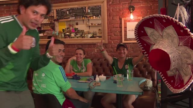 fans of mexico and brazil share their thoughts ahead of their round of 16 world cup match with both sides confident they can bring home the win and... - quarterfinal round stock videos & royalty-free footage