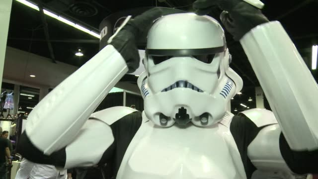 fans of star wars reacted mostly positively after a new trailer for the next episode the force awakens was unveiled at a convention dedicated to the... - franchising stock-videos und b-roll-filmmaterial