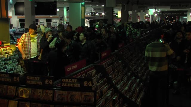 Fans queue for the midnight launch at ATMOSPHERE Fans queue for the midnight launch at at HMV Oxford Street on November 12 2012 in London England