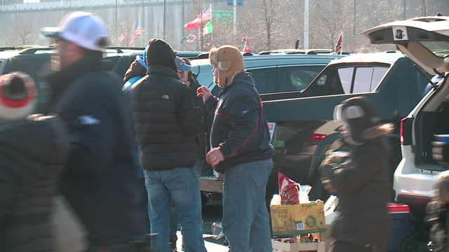 WGN Fans Tailgating Outside Soldier Field Before Chicago Bears Game on Nov 19 2017