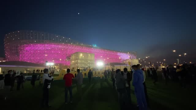 fans that attended the inauguration of the third newly built world cup stadium to be ready in qatar say they were happy to be allowed back in the... - qatar stock videos & royalty-free footage