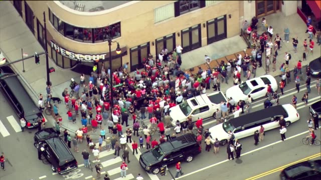WGN Fans Wait Outside Bar For Stanley Cup's Arrival on June 24 2013 in Chicago Illinois