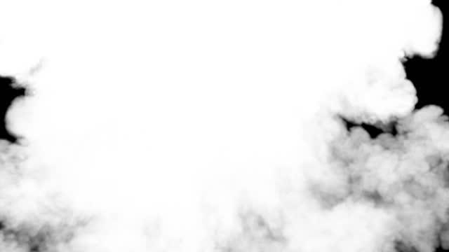 fantastische explosion mit großen pflaumen von violettem giftigem rauch auf dunklem hintergrund für motion graphic design. alpha matt zu komponieren. 3d-rendering-digitalanimation. hd-auflösung - spezialeffekt stock-videos und b-roll-filmmaterial
