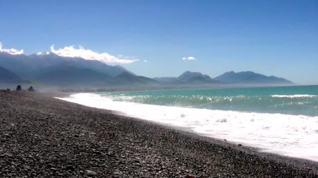 fantastic landscape - kaikoura - kaikoura stock videos & royalty-free footage