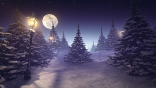 fantastic winter landscape purple tinted - solstice stock videos & royalty-free footage