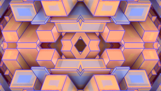 fantasy abstract seamless loop animation with 3d rendering impossible architecture shapes. surreal kaleidoscopic design element. hd - design element stock videos & royalty-free footage