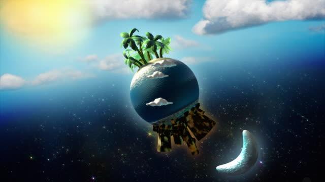 Fantasy Earth, Moon and Sun [HD]