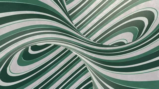 vídeos de stock e filmes b-roll de fantasy hypnotic pattern with rotation monochrome spiral. optical illusion for decoration design. digital seamless loop animation. 3d rendering. hd resolution - espiral