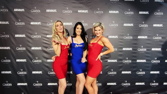 """fantasy"""" show dancer and associate producer mariah rivera, """"fantasy""""s dancers indira riera and abby sullivan attend the one-year anniversary party at... - celeb stock videos & royalty-free footage"""