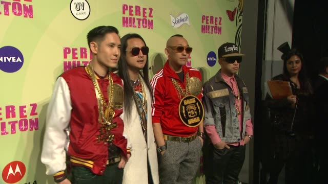 far east movement at perez hilton's mad hatter tea party birthday celebration on 3/24/2012 in los angeles ca - mad hatter stock videos and b-roll footage