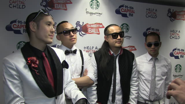 far east movement on performing at the summertime ball their summer tour their music inspiration at the capital fm summertime ball at london england - popular music tour stock videos and b-roll footage