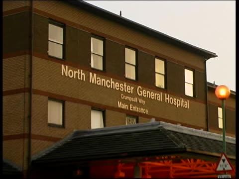 vídeos y material grabado en eventos de stock de far east pneumonia reaches britain; lib england manchester north manchester general hospital ext hospital building ------------------------------... - neumonía