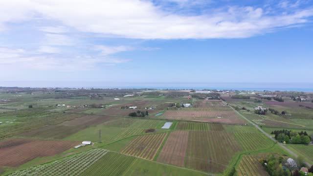 farm and orchard in spring at niagara falls area, ontario, canada - river niagara stock videos & royalty-free footage