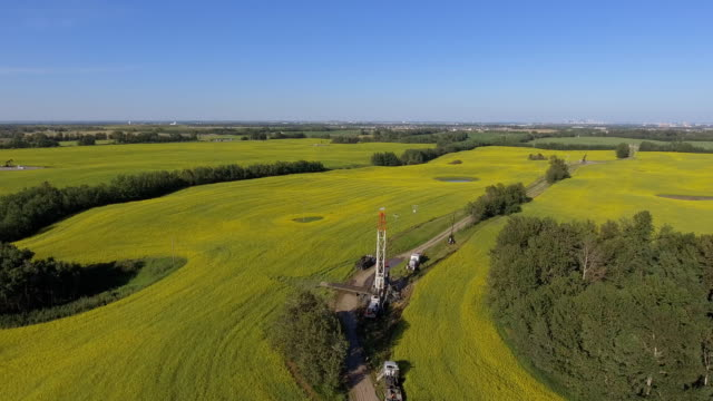 farm fields - pump jack stock videos and b-roll footage