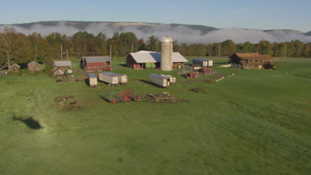 farm hudson valley aerial - hudson valley stock videos and b-roll footage