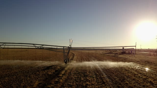 Farm Irrigation Sprinkler System and Fracking Drill Rig