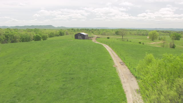 ws aerial ts farm road / kentucky, united states - kentucky stock videos & royalty-free footage