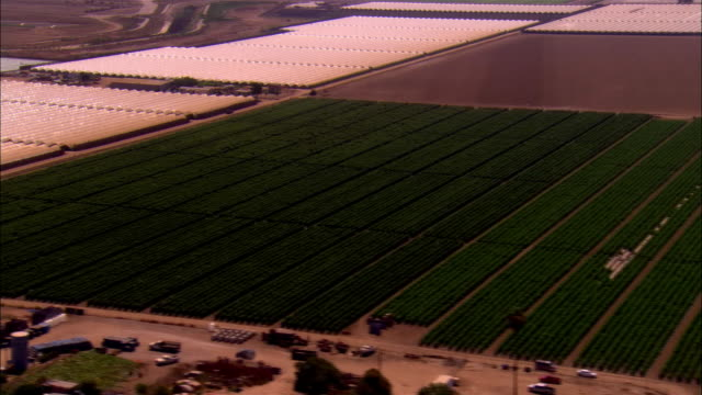 aerial farm/ ventura, california  - medium group of objects stock videos & royalty-free footage