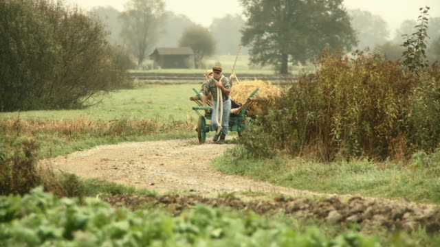 hd: farmer and his bossy wife - whip equipment stock videos and b-roll footage
