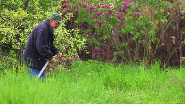 farmer bei der arbeit - sense stock-videos und b-roll-filmmaterial