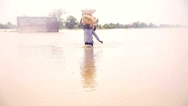 farmer carrying sack on his head & walking - carrying stock videos and b-roll footage