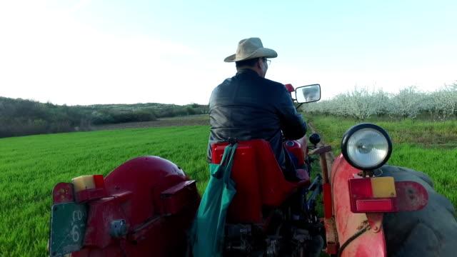 Farmer ckecking his land