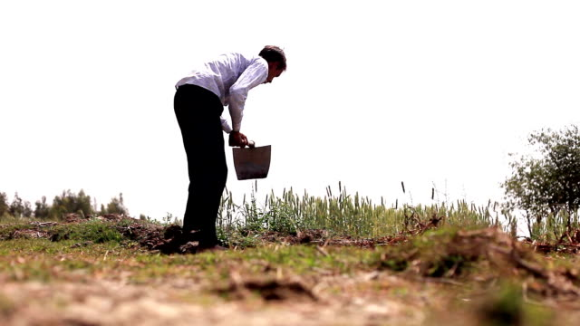 farmer digging in the field using hoe - vegetable garden stock videos & royalty-free footage