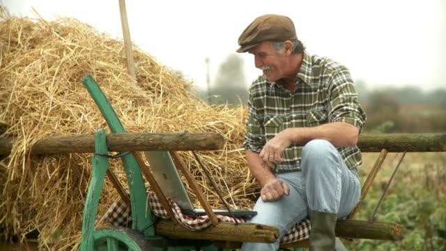 HD: Farmer Having A Video Conference