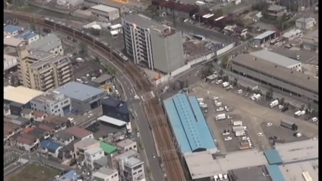 A farmer in Amagasaki Hyogo Prefecture is remembering a tragic railway derailment which occurred nearby his field with a message formed by growing...
